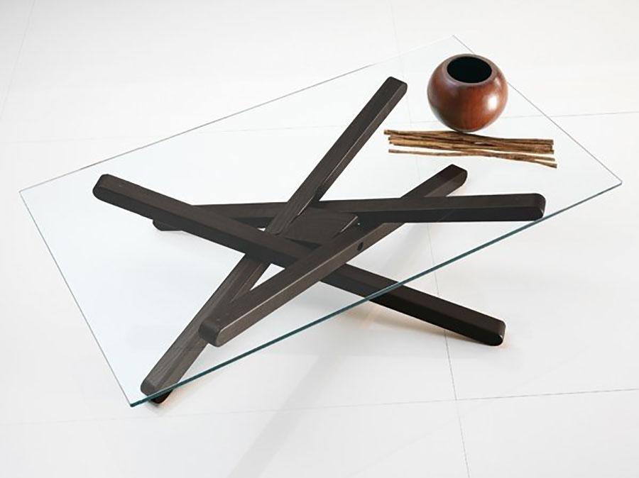 Glass coffee table model n.34