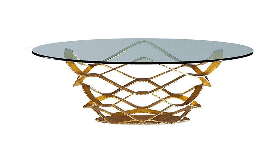 Glass coffee table model no.18