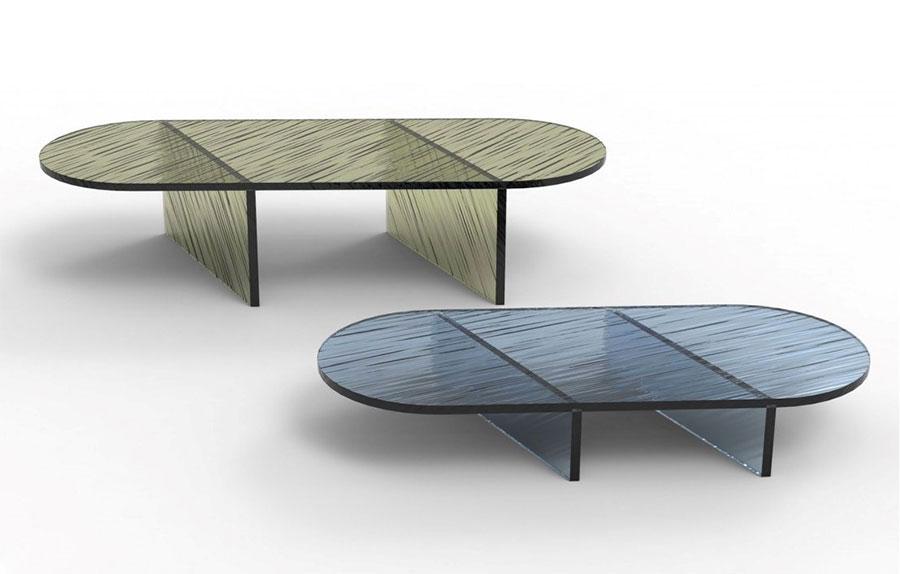 Glass coffee table model n.35