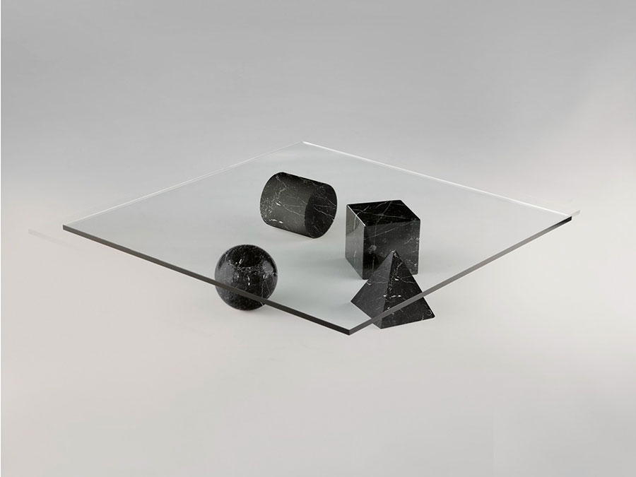 Glass coffee table model no.38