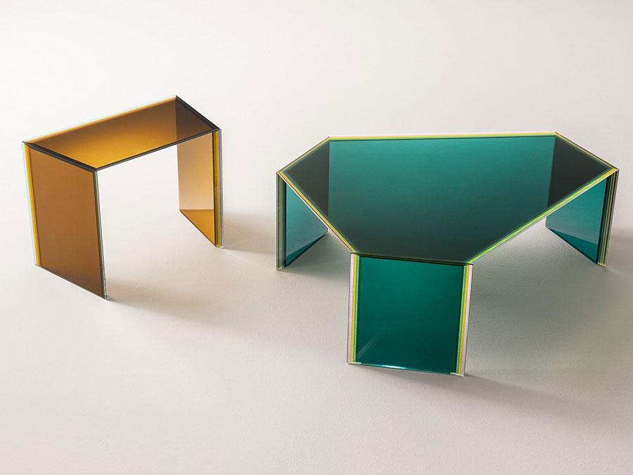 Glass coffee table model n.40