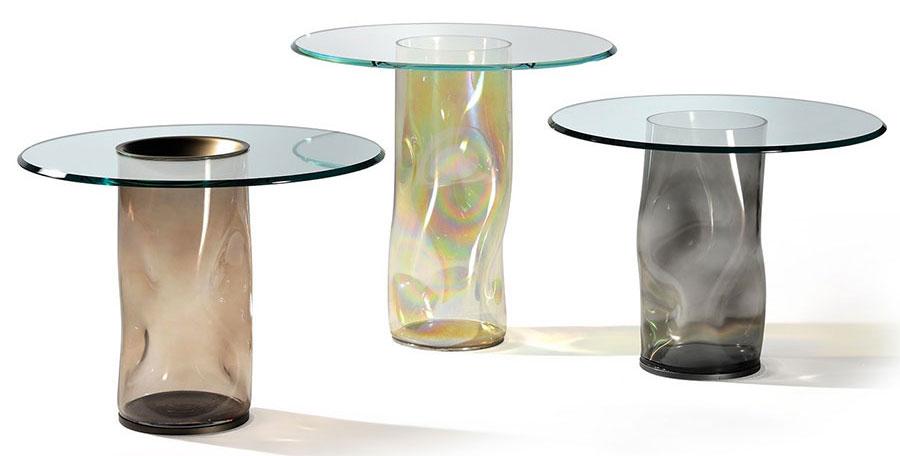 Tavolini da salotto in vetro