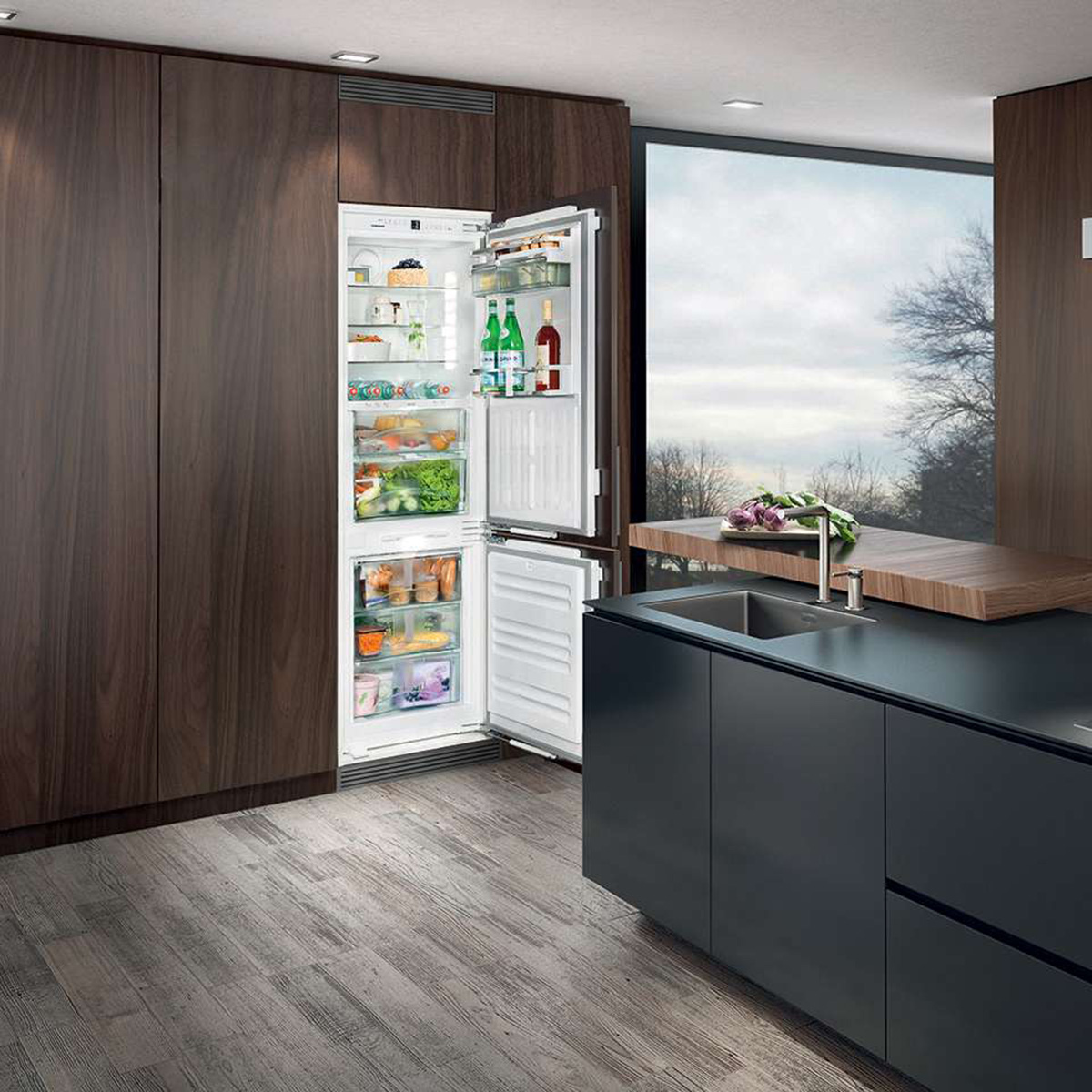 kitchen-with-built-in-refrigerator-3