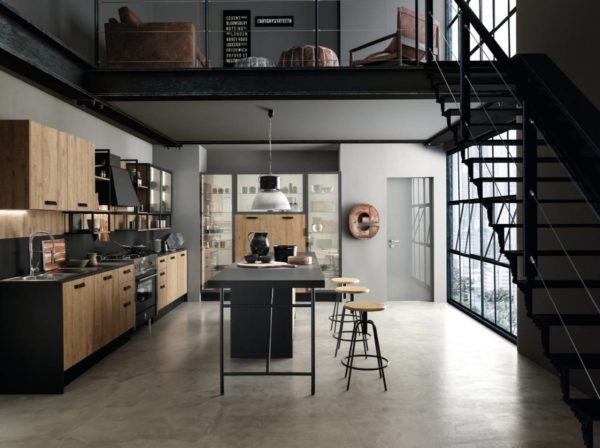 kitchen-industrial-style-loft