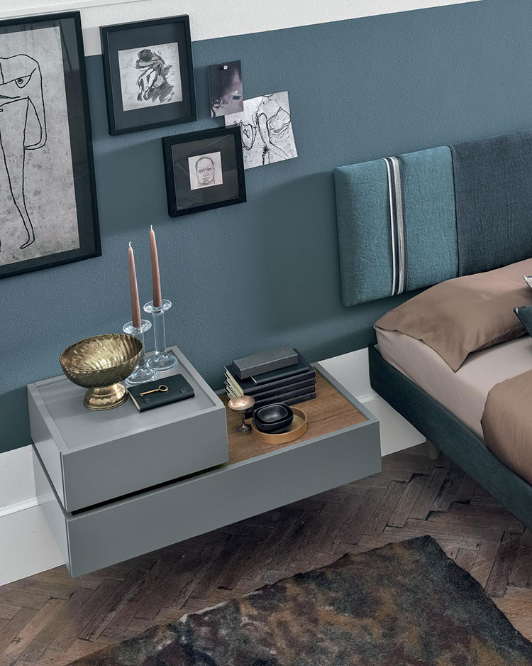 Suspended bedside table model by Tomasella n.01