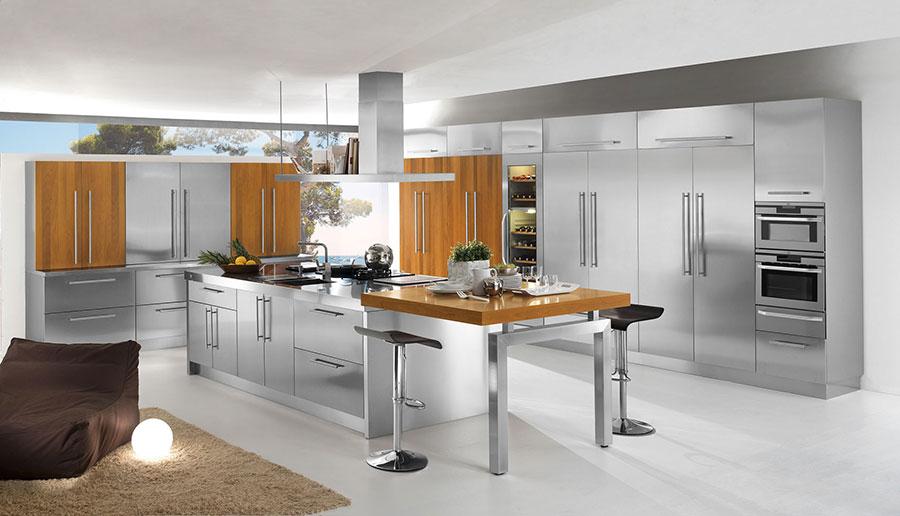 Modern industrial style steel kitchen n.01