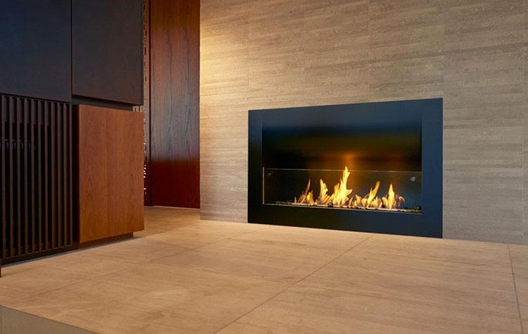 Built-in bioethanol fireplace model n.01