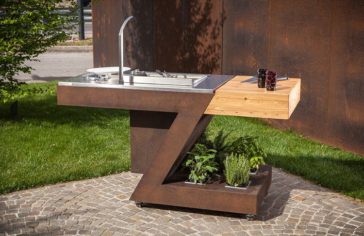 Outdoor kitchen with a modern and functional design n.01