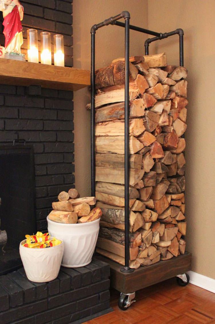 Ideas for indoor log holder n.01