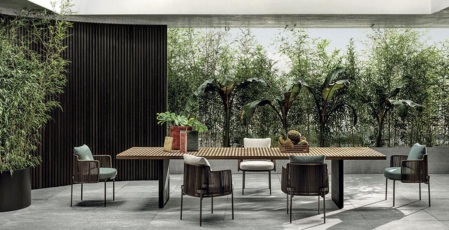 Teak wood garden table model n.01