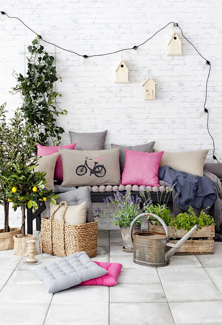 Ideas for decorating small balconies n.01