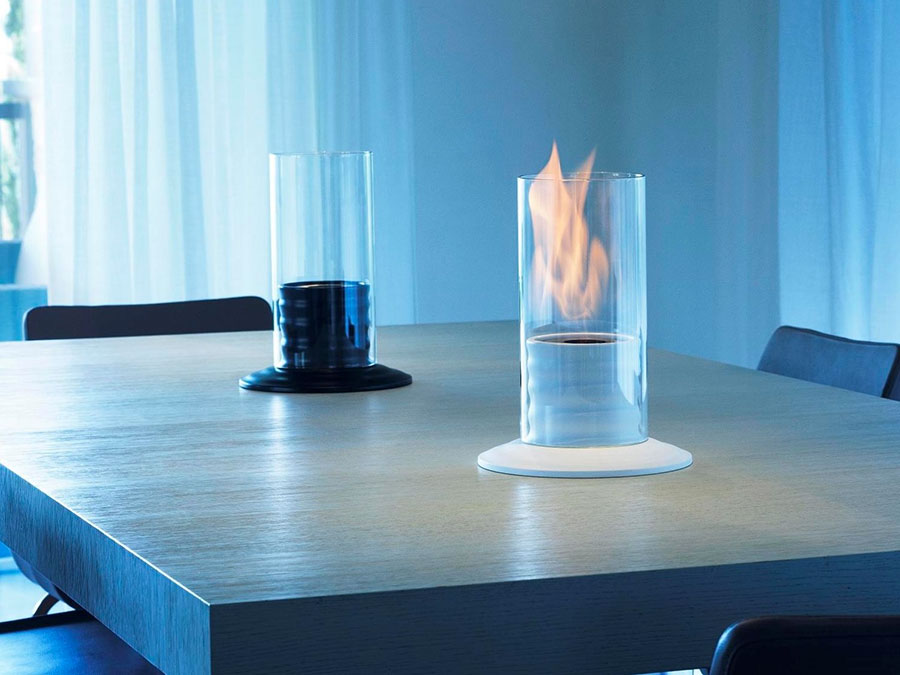Table bioethanol fireplace by Acquafuoco n.01