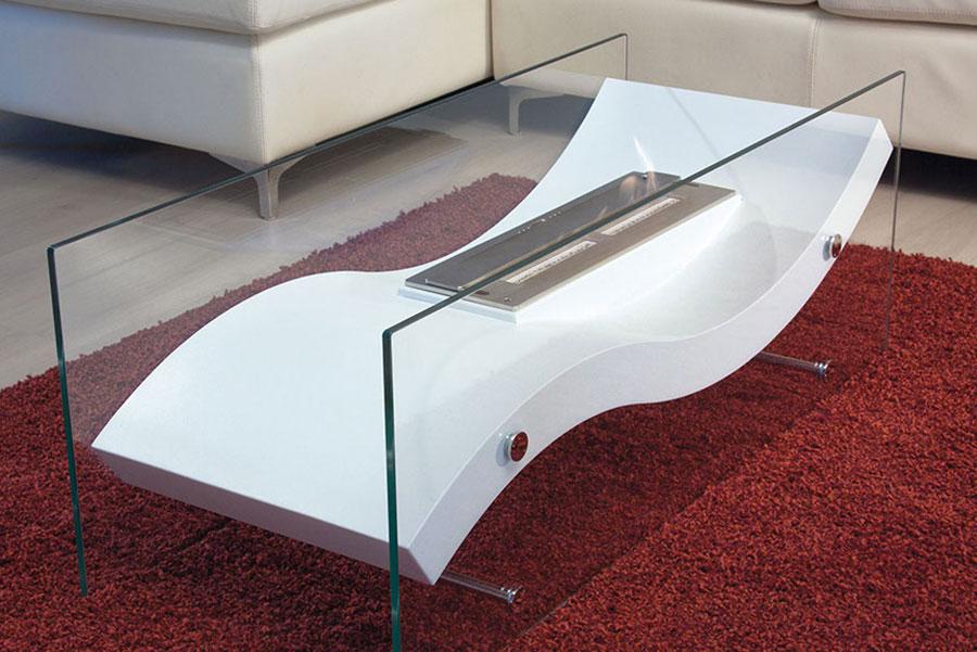 Geometric design bioethanol fireplace n.01