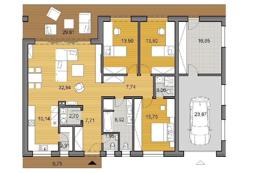 House plan ideas of 150 square meters n.01