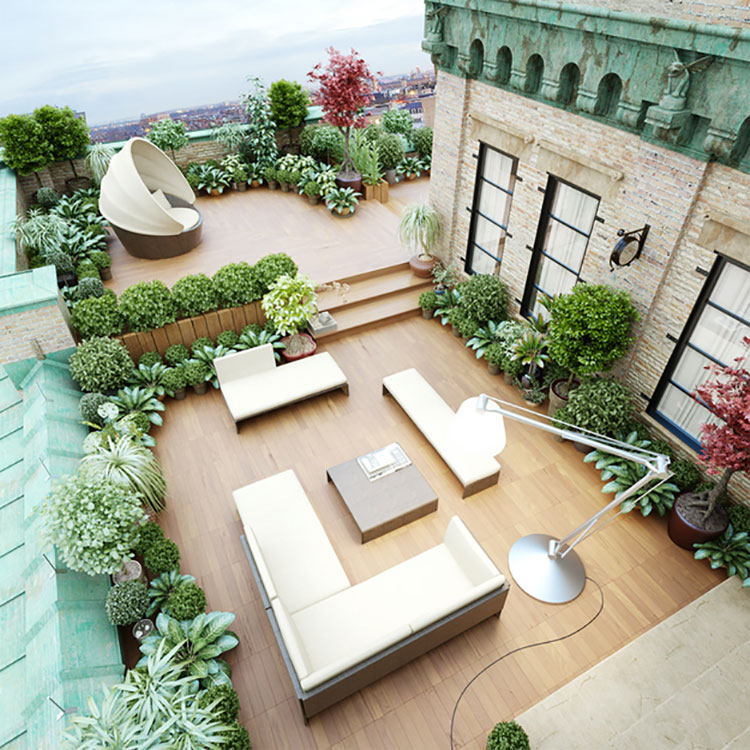 Ideas for embellishing a terrace with furniture elements n.1