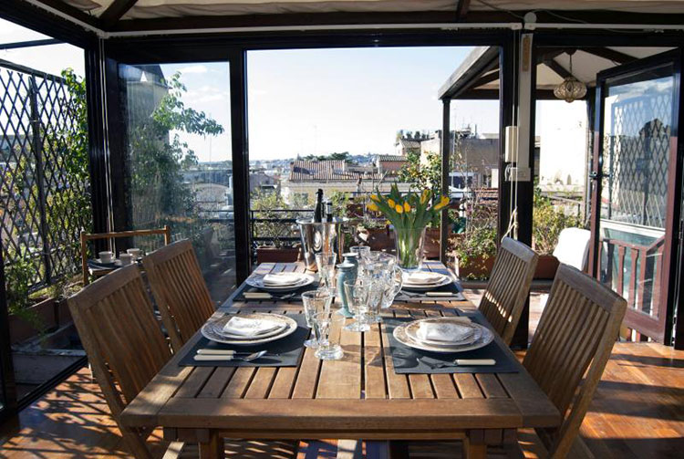 Ideas for decorating the terrace of an apartment n.01