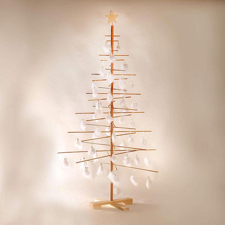 Modern wooden Christmas tree model # 01