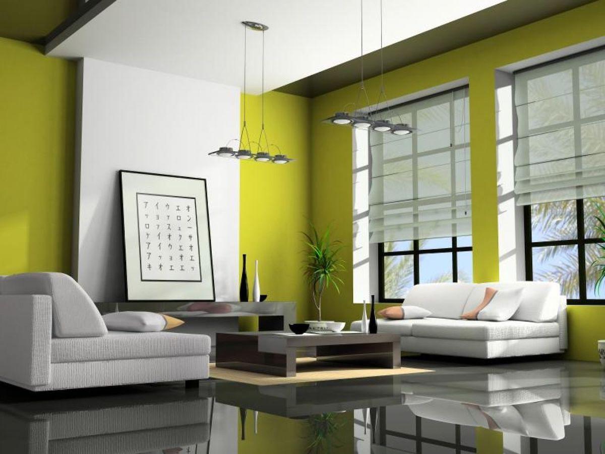 living room-walls-lime-green-1