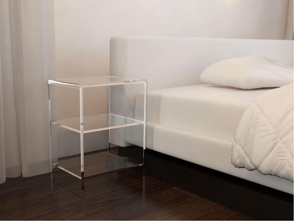 furniture-plexiglas-bedside tables
