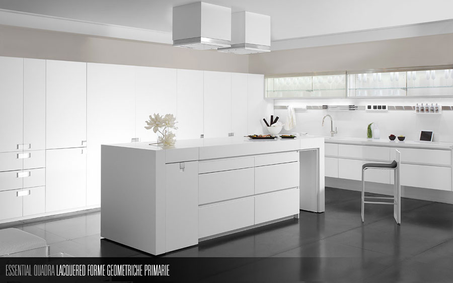 Modern White Kitchen Model # 07