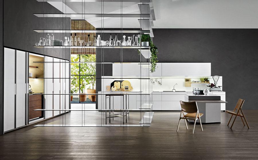 Modern White Kitchen Template # 14
