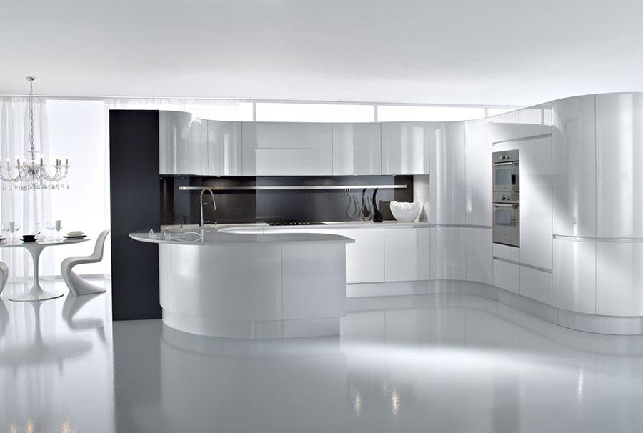 Modern White Kitchen Template # 04