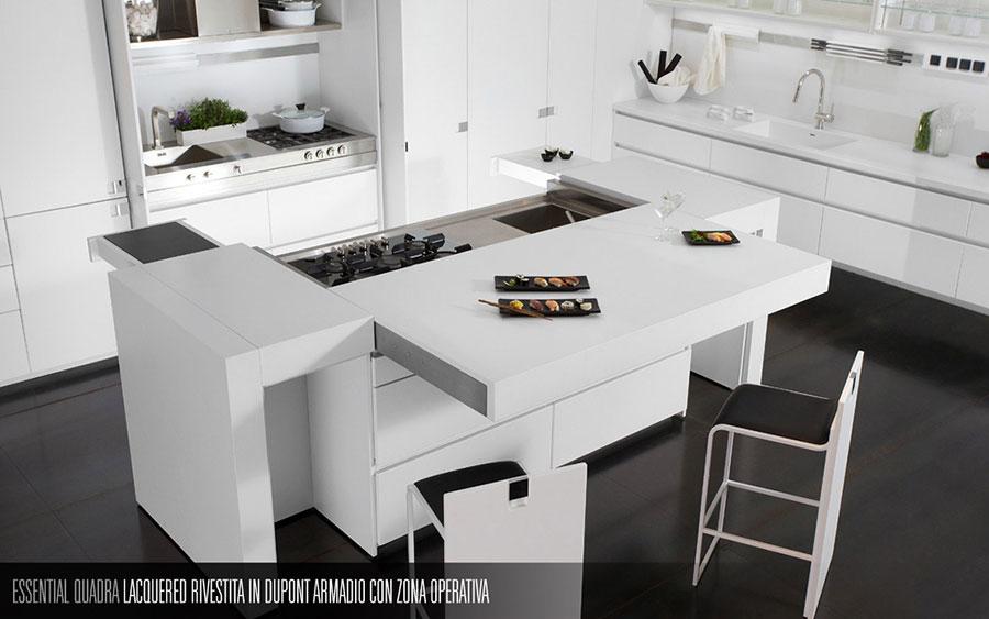 Modern White Kitchen Template # 08