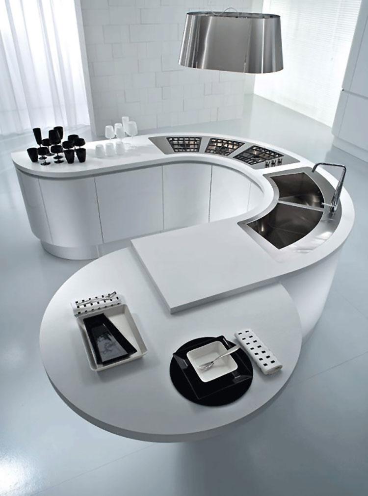 Modern White Kitchen Model # 03