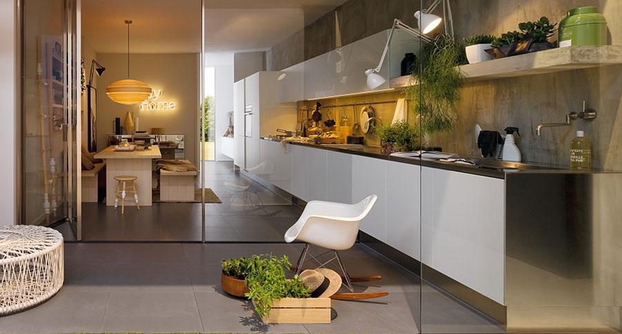 Modern White Kitchen Template # 10