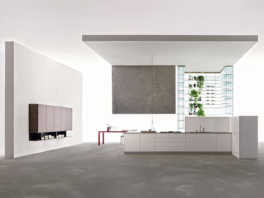 Modern White Kitchen Template # 16