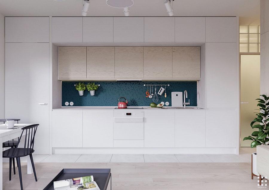 Linear Modern White Kitchen Template # 04