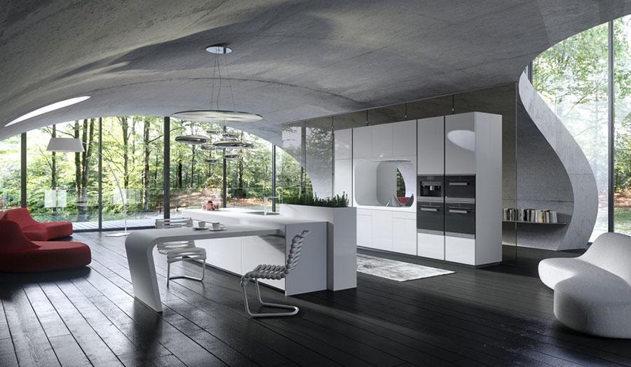 Modern White Kitchen Model # 23