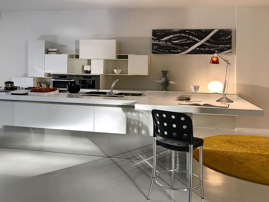 Modern White Kitchen Model # 19