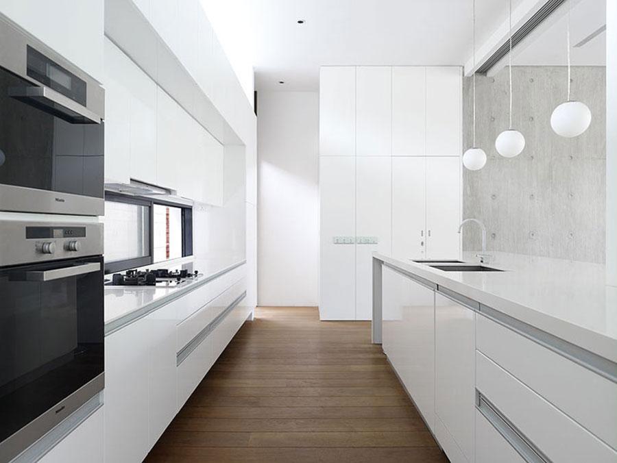 Linear Modern White Kitchen Pattern # 02