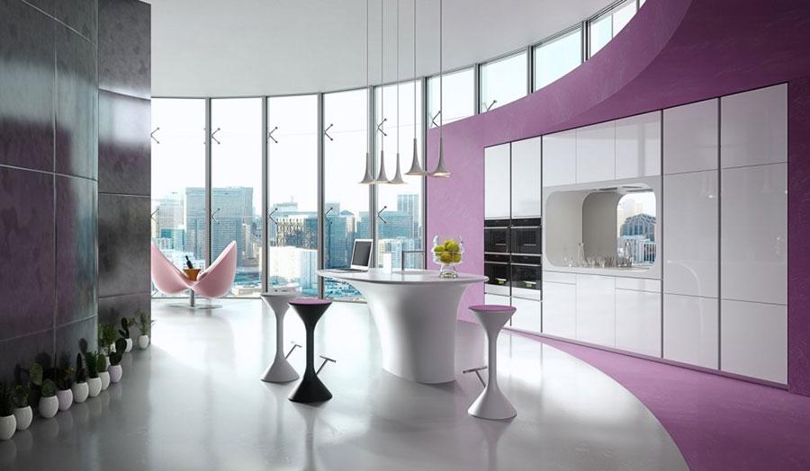Modern White Kitchen Model # 22
