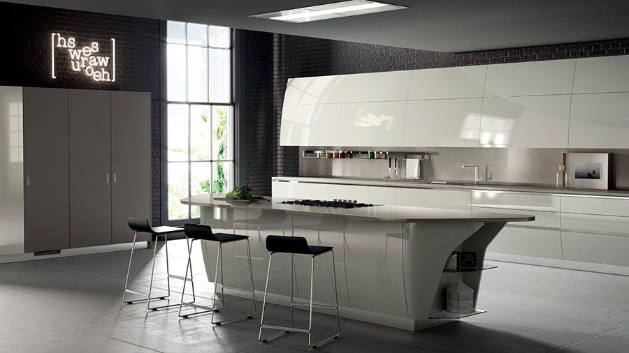 Modern White Kitchen Model # 25