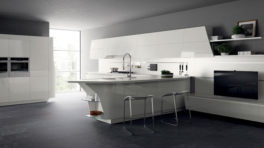 Modern White Kitchen Template # 24