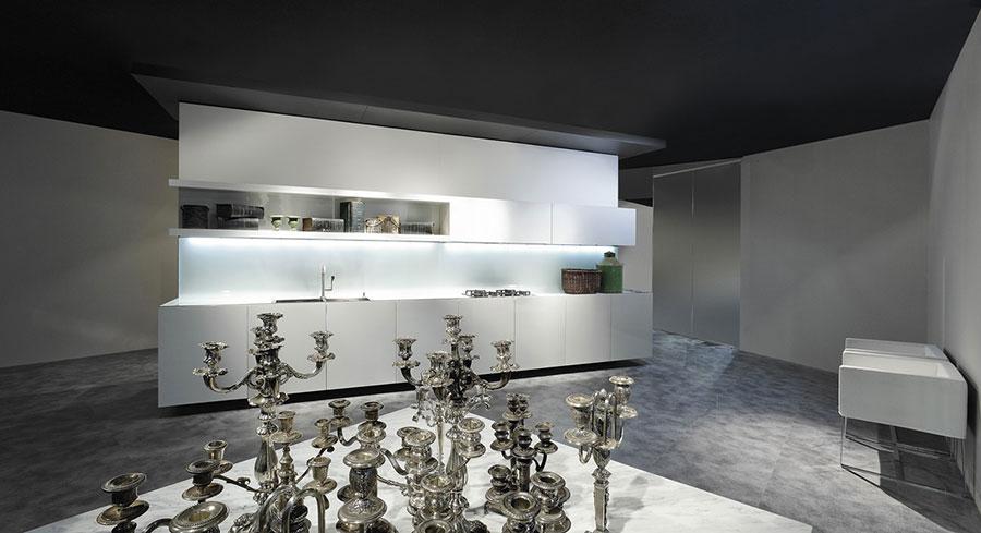 Modern White Kitchen Template # 18