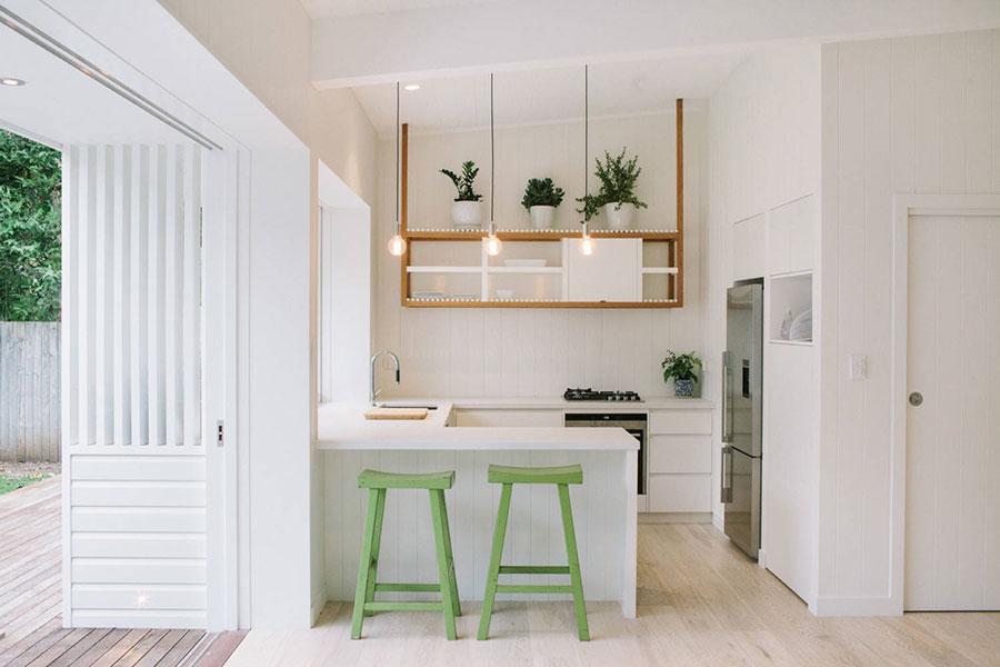 U Shape Modern White Kitchen Model # 04