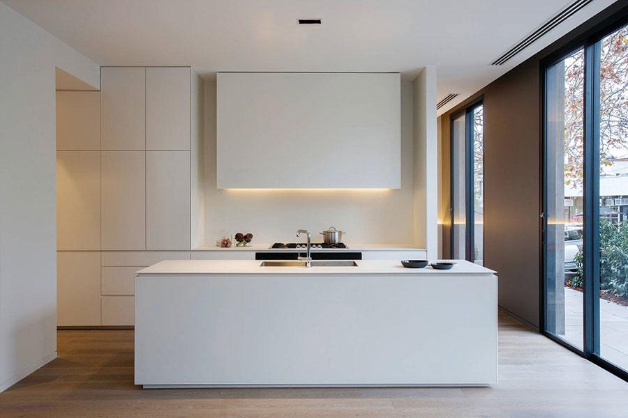 Modern white kitchen model with island n.05
