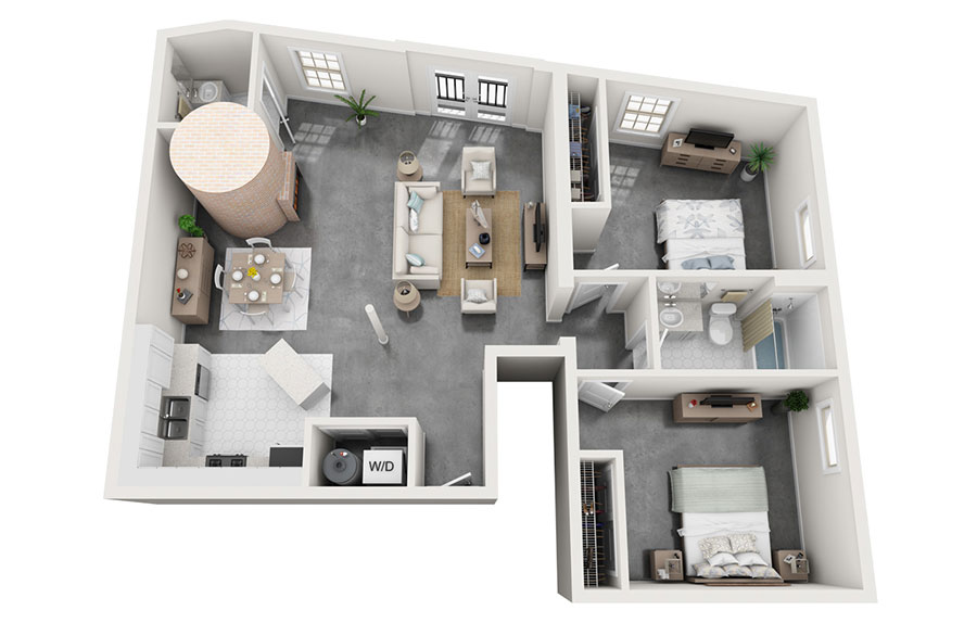 House plan 100 sqm with plan on one floor n.01