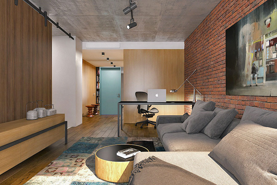 Design ideas for furnishing a small apartment n.13