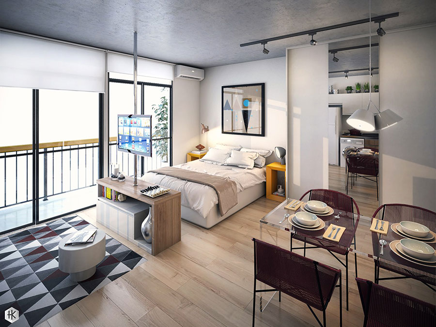 Design ideas for furnishing a small apartment n.25