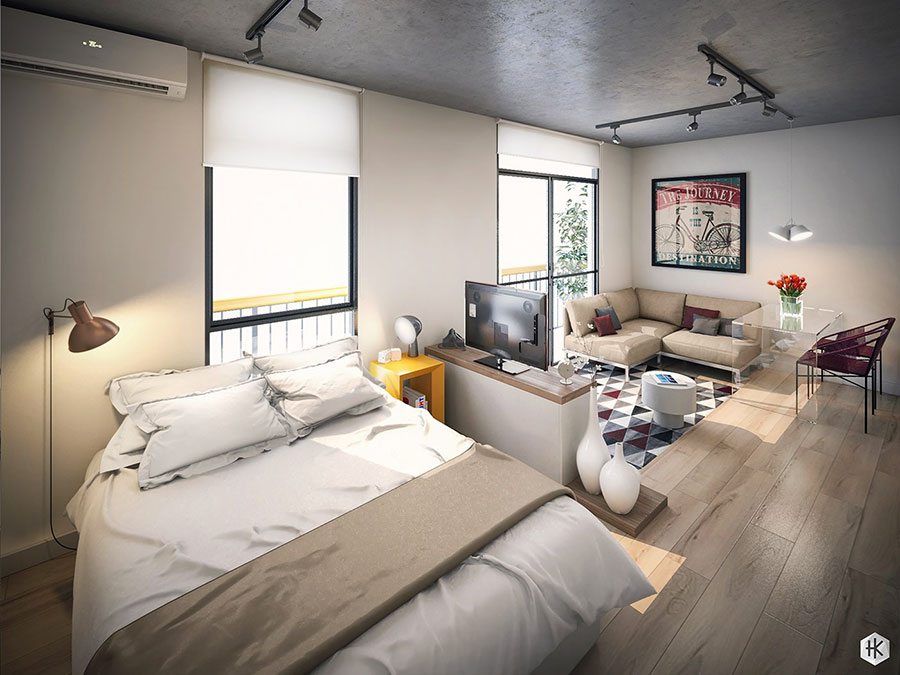 Design ideas for furnishing a small apartment n.24