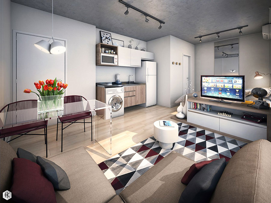 Design ideas to furnish a small apartment n.22