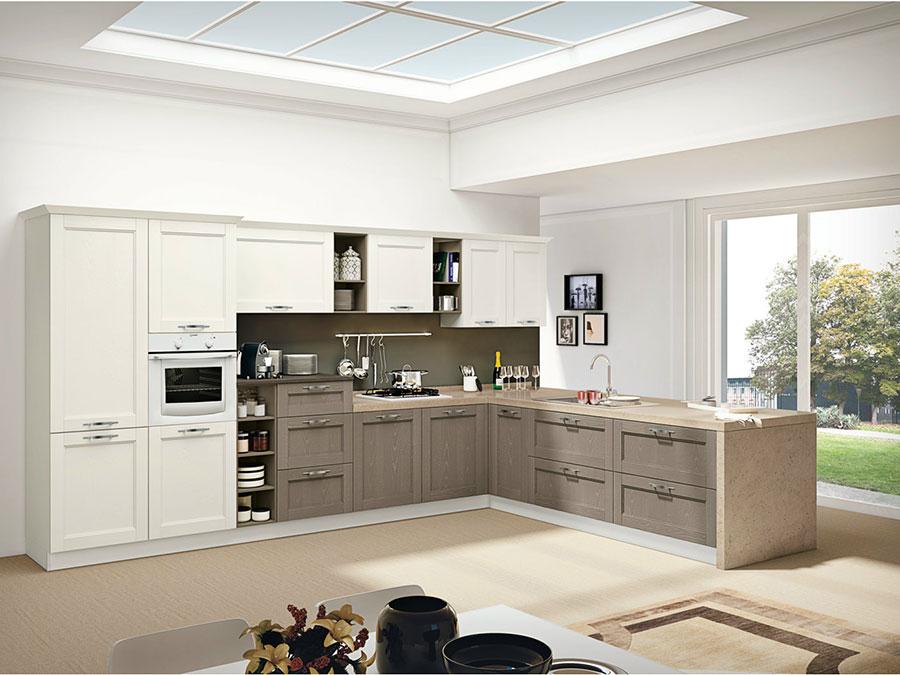 Beige and brown kitchen model # 03