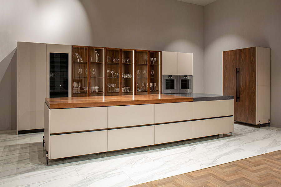 Beige and wood kitchen model # 01