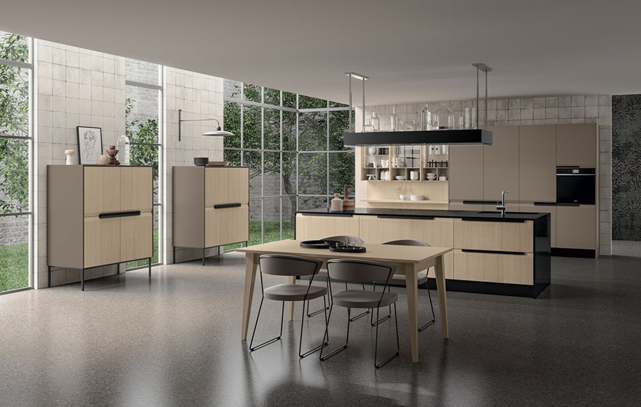 Beige and taupe kitchen model n.01