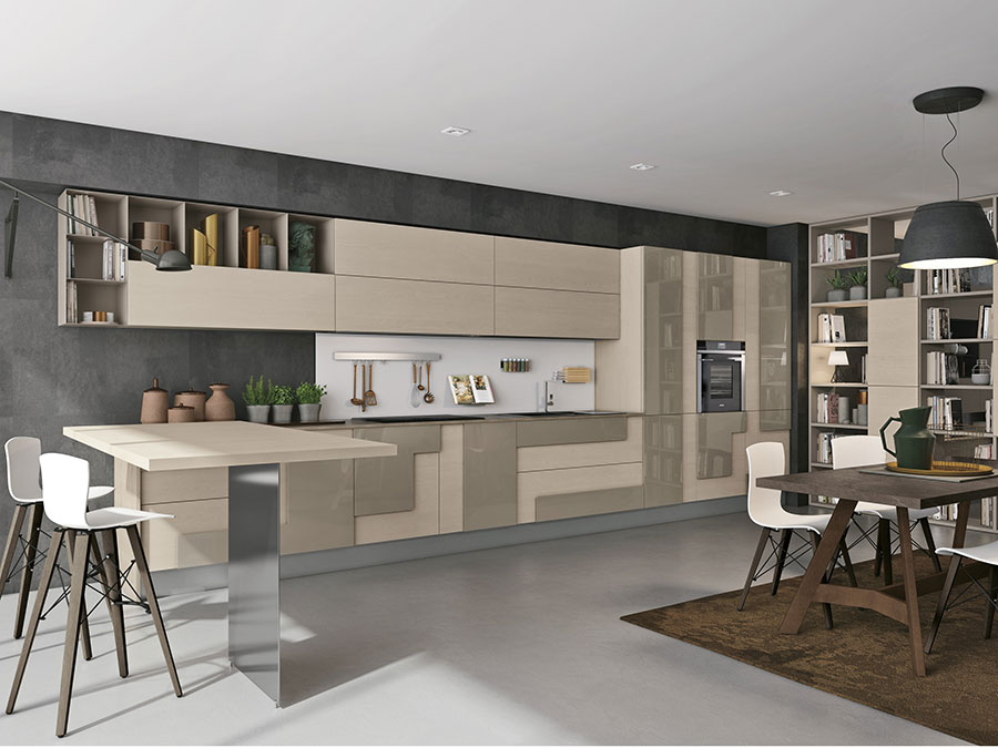 Beige and taupe kitchen model n.03