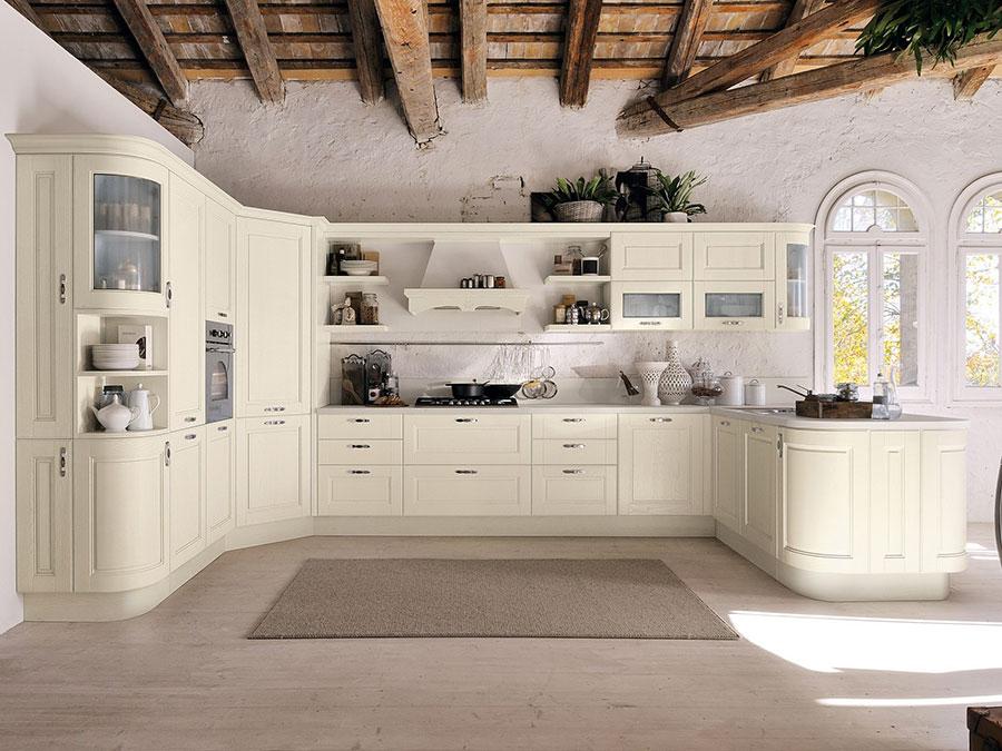 Classic beige kitchen model # 01